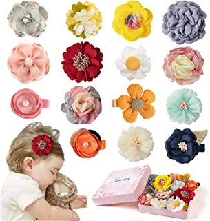 Baby Girls Hair Clips Bows Flowers Hair Accessories Floral Barrettes for Infant Toddler Kids