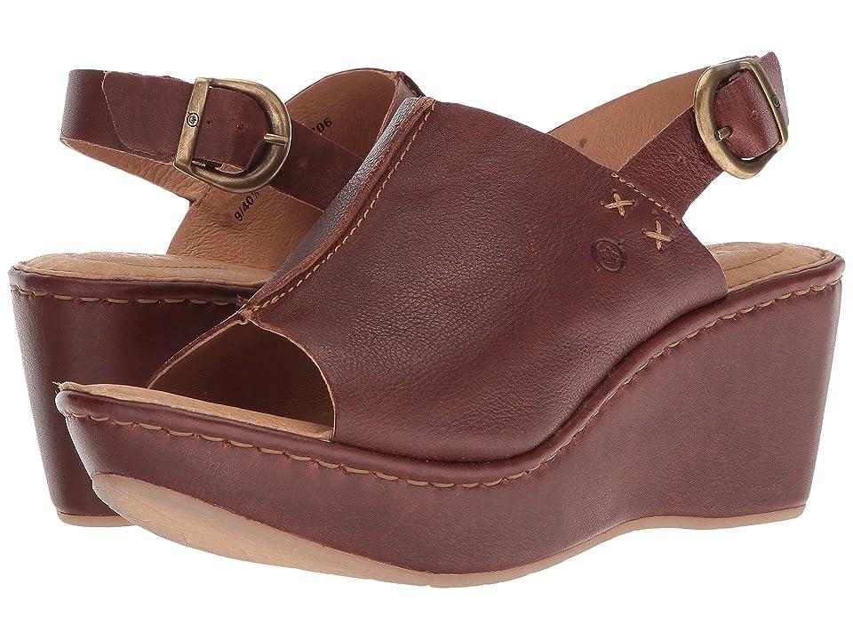 Born Valencia (Red/Brown Full Grain Leather) Women
