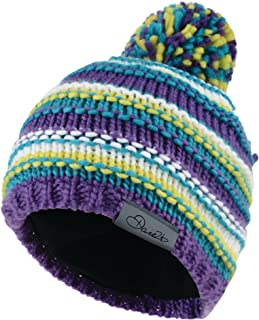 Neon Dare 2b Kids Cognizant Acrylic Knit Fleece Lined Beanie Purple