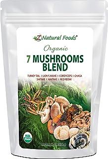 Organic 7 Mushroom Supplement For Immune Support - Lion's Mane + Cordyceps + Chaga + Red Reishi + Shiitake + Maitake + Tur...