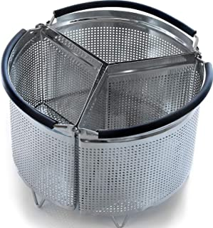 3-Piece Divided Steamer Basket for Pressure Cooker Compatible with Instant Pot..