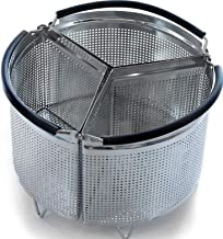 3-Piece Divided Steamer Basket for 6 Qt Pressure Cooker [3qt 8qt available] Compatible with Instant Pot Accessories Ninja Foodi Other Mullti Cookers, Strainer Insert Can Cook 3-in-1, for IP 6 Quart