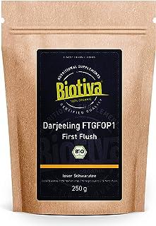Darjeeling First Flush Bio 250g - Top Bio Schwarztee - Abgefüllt und kontrolliert in Deutschland DE-ÖKO-005 - vegan - loser Blatt-Tee