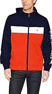 Men's Retro Colorblocked Hooded Track Jacket