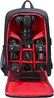 Mochila Fotográfica Multifunción y Impermeable para Cámaras Réflex Digital SLR Lentes Trípode Flash Laptop Portátil Canon Nikon Sony Drone y Accesorios