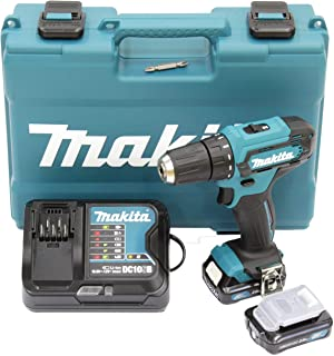 Makita DF333DSAE Cordless Drill 12 V Max. / 2.0 Ah, 2 Batteries + Charger in Carry Case, 10.8 V