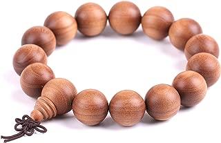 Xianyuan Indian Laoshan Sandalwood Mala Prayers Beads Meditation Transfer Beads Bracelet jewelry15mm15 仙源印度老山檀香木料佛珠手鏈款轉運珠手串飾品 (Sandalwood 檀香)