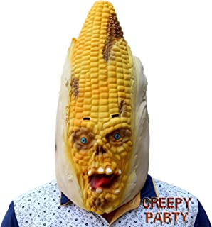 CreepyParty Deluxe Novelty Halloween Costume Party Latex Vegetables Head Corn Mask