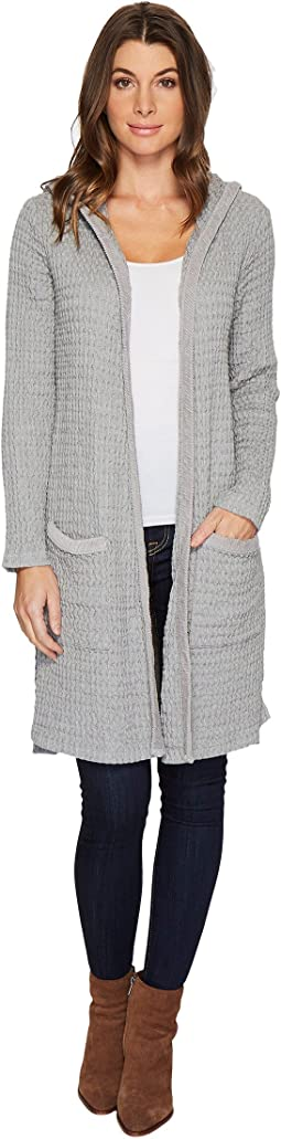Mod-o-doc - Signature Waffle Open Front Hooded Duster Cardigan