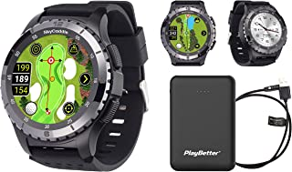 SkyCaddie LX5C GPS Golf Watch Power Bundle | with PlayBetter Portable Charger (Large) | Ceramic Bezel, IntelliGreen & Pinp... photo