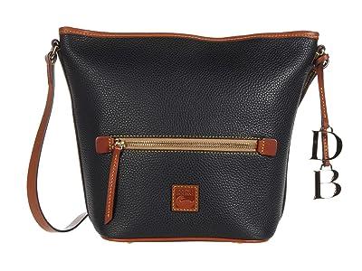 Dooney & Bourke Pebble Zip Satchel (Black) Handbags