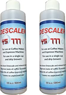 Descaling Solution Descaler Cleaner Kit for Nespresso Keurig Delonghi Saeco Coffee Espresso and All Single Use Machines - (2 PACK)