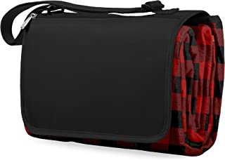 ONIVA - a Picnic Time Brand Outdoor Picnic Blanket Tote XL, Red/Black Buffalo Plaid