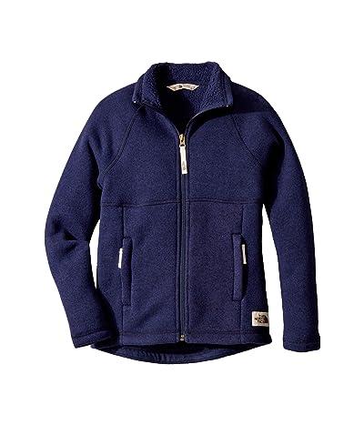 The North Face Kids Crescent Full Zip (Little Kids/Big Kids) (Montague Blue Heather) Girl