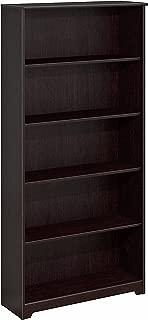 Bush Furniture Cabot 5 Shelf Bookcase, Espresso Oak