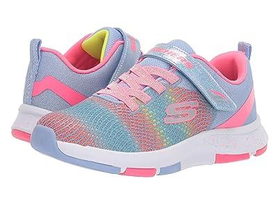 SKECHERS KIDS Trainer Lite 2.0 81401L (Little Kid/Big Kid) (Light Blue/Multi) Girls Shoes