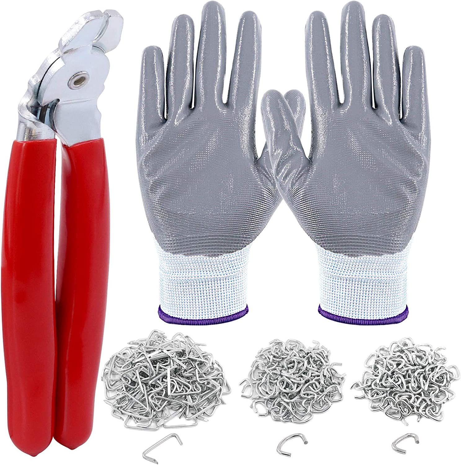 Louisville-Jefferson County Mall Rustark Hog Ring Pliers Set Max 48% OFF with 3 Rings Galvanized 360 Pcs