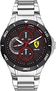 Scuderia Ferrari FERRARI MEN'S BLACK DIAL STAINLESS STEEL WATCH - 830726