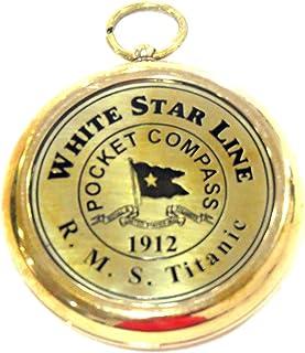 ecf5f569e2ff NAUTICALMART RMS Titanic 1912 Brass Pocket Compass! Beautiful Working  Model. New!