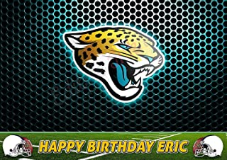 Jacksonville Jaguars NFL Edible Image Cake Topper Party Personalized 1/4 Sheet