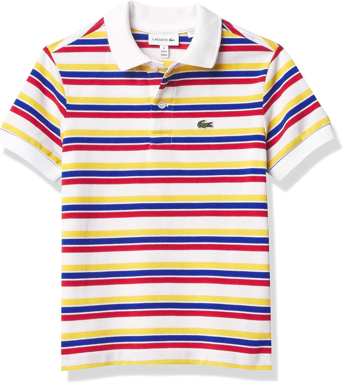Lacoste Boys' Short Sleeve Classic Stripes Polo Shirt