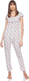 JOANNA Women's Floral Pattern Pajama Set, X-Large, Purple