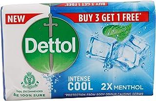 Dettol Intense Cool Soap, 2X Menthol (Buy 3 get1)