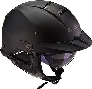 LS2 Helmets Rebellion Unisex-Adult Half Helmet Motorcycle Helmet (Matte Black, Large)
