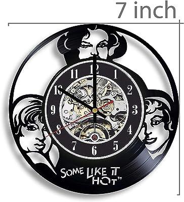 Some Like It Hot Vinyl Record Wall Clock, Some Like It Hot Gift, Penny Dreadful Decor, Penny Dreadful Artwork, Some Like It Hot Wall Art, Some Like It Hot Movie, Movie Art
