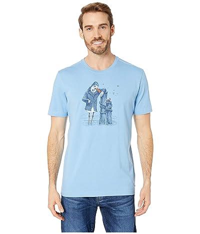 Life is Good Salty Bird Crusher T-Shirt (Carolina Blue) Men
