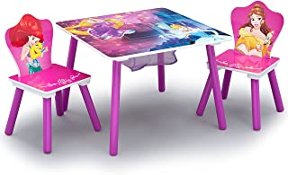 Delta Children Kids Chair Set and Table (2 Chairs Included), Disney Princess
