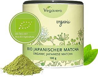 Té Matcha Orgánico Vegavero® ORIGINAL Japonés: de Aichi y Kagoshima | 100g | Rico en L Teanina, Cafeína y Antioxidantes | Energía + Bienestar + Concentración + Detox | Sin Aditivos