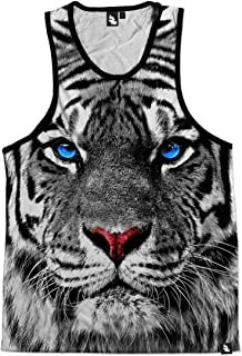 iHeartRaves Men's Casual All Over Print EDM Rave Tank Top Shirts
