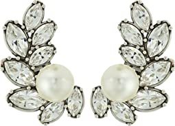 Tory Burch - Embellished Pearl Crawler Earrings