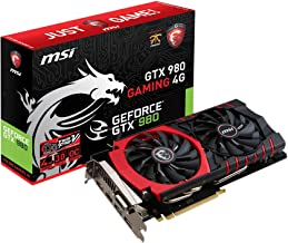 MSI GeForce GTX 980 Gaming - Tarjeta gráfica GeForce GTX 980 Gaming (ATX, HDMI, DL DVI-I, GDDR5, 64 M x 32 bit)