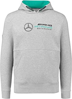 Benz AMG Petronas Formula 1 Men's Gray MAMGP Hooded Sweatshirt F1