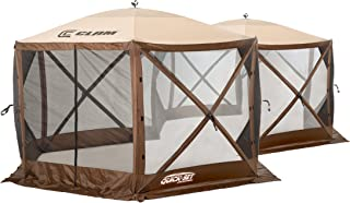Quick Set Excursion Canopies, 140 x 140-Inch Portable Popup Gazebo Tent Rain Protection Easy Setup (6-8 Person), Brown