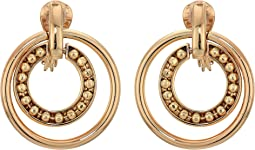Clip Orbital Hoop Earrings