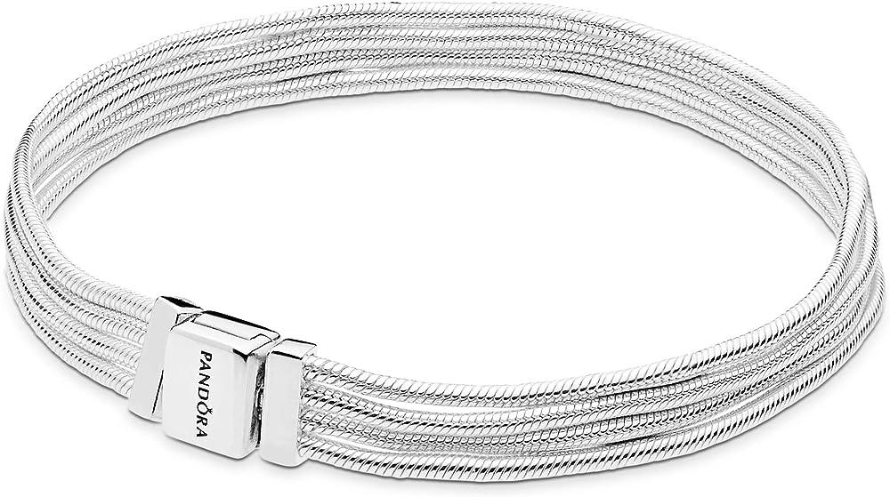 Pandora reflexions braccialetto multifilo in argento sterling 925 per donna 597943-15