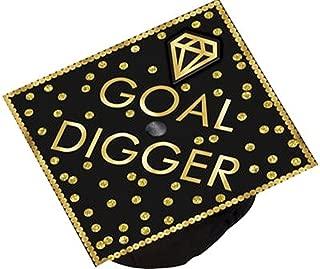 GOAL DIGGER 9 1/4in x 9 1/4in Graduation Cap Topper Accessory!