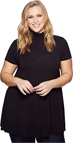 KARI LYN - Plus Size Rosie Mock Neck Tunic