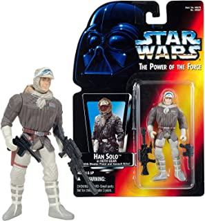 Power of the Force Star Wars Year 1995 The Series 4 Inch Tall Figure - HAN SOLO in Hoth Gear with Blaster Pistol and Assault Rifle