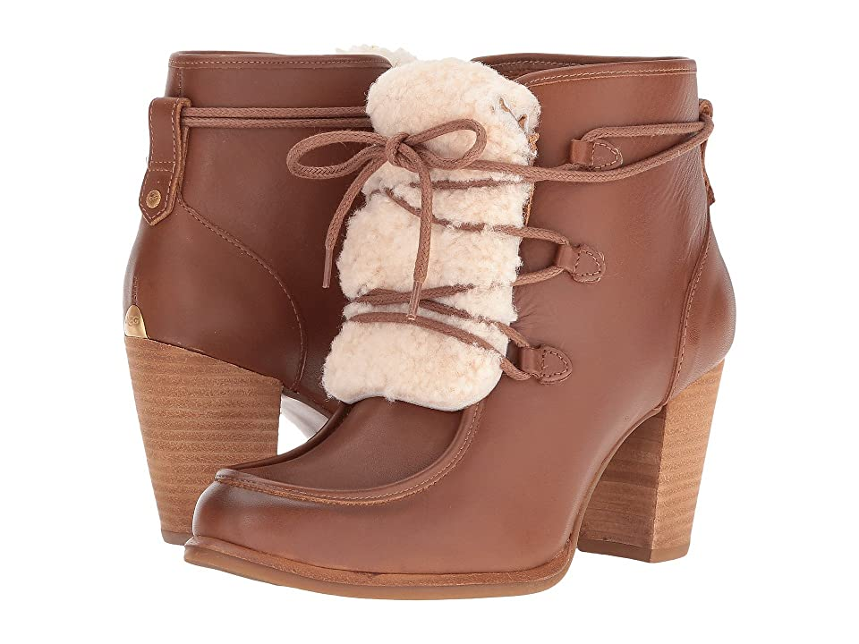 UGG Analise Exposed Fur (Chestnut/Natural) High Heels