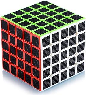 Cube de Vitesse Magique 5x5 5x5x5 Speed Cube Magic Cube Fibre de Carbone Autocollant Cadeau de Vacances pour Enfants Adult...