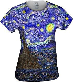 Vincent Van Gogh The Starry Night Tshirt Womens Art Shirt Top