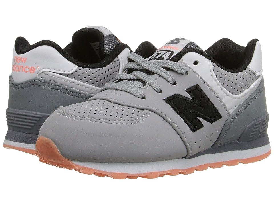 New Balance Kids State Fair 574 (Infant/Toddler) (Grey/Black) Kids Shoes