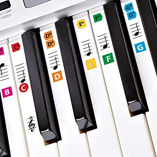 Best Reusable Color Piano Key Note Keyboard Stickers for Adu