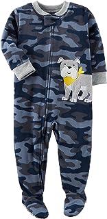 Carter`s Boys` 12M-8 Camo Dog Fleece Pajamas Blue 5