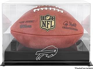 Buffalo Bills Team Logo Football Display Case | Details: Black Base, Mirror Back