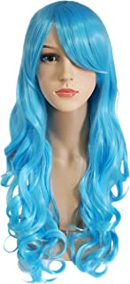 Another Me Wig Women's Long Big Wavy Hair 25 Inches Light Ice Blue Ultra Soft Heat Resistant Fiber Party Cosplay Accessories